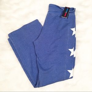 NWT Tommy Hilfiger blue white star sweatpants L